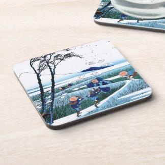 Cool oriental japanese Hokusai Fuji View landscape Beverage Coaster