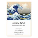 Cool oriental japanese Hokusai Fuji View landscape Business Card Template