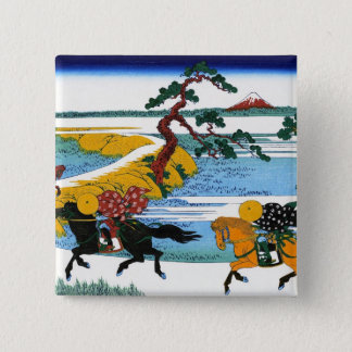 Cool oriental japanese Hokusai Fuji View landscape Button