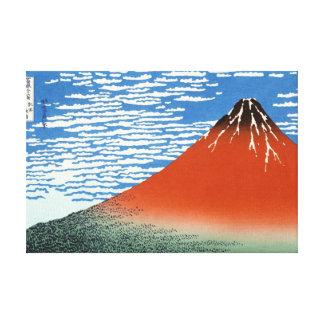 Cool oriental japanese Hokusai Fuji View landscape Canvas Print