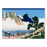 Cool oriental japanese Hokusai Fuji View landscape Greeting Card