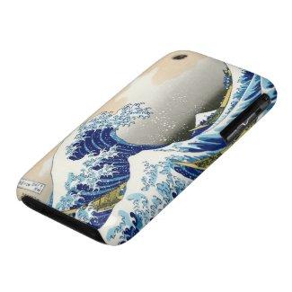 Cool oriental japanese Hokusai Fuji View landscape Case-Mate iPhone 3 Case