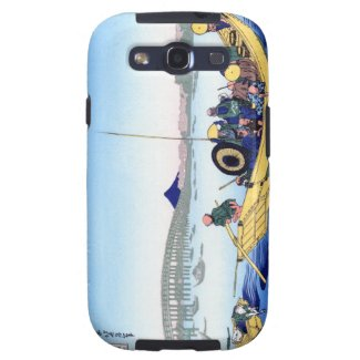Cool oriental japanese Hokusai Fuji View landscape Galaxy S3 Cases