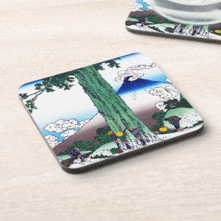 Cool oriental japanese Hokusai Fuji View landscape Coaster