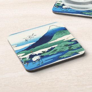 Cool oriental japanese Hokusai Fuji View landscape Drink Coaster