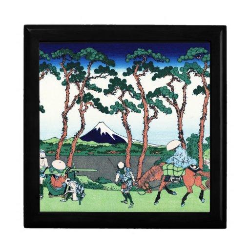 Cool oriental japanese Hokusai Fuji View landscape Jewelry Boxes