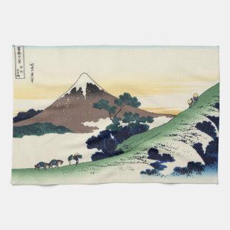 Cool oriental japanese Hokusai Fuji View landscape Hand Towel