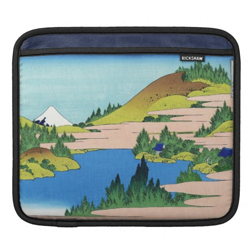 Cool oriental japanese Hokusai Fuji View landscape Sleeves For iPads