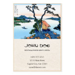 Cool oriental japanese Hokusai Fuji View landscape Large Business Cards (Pack Of 100)
