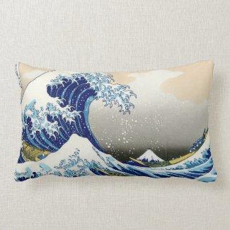 Cool oriental japanese Hokusai Fuji View landscape Pillows