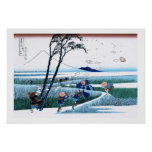 Cool oriental japanese Hokusai Fuji View landscape Posters
