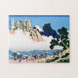 Cool oriental japanese Hokusai Fuji View landscape Jigsaw Puzzles