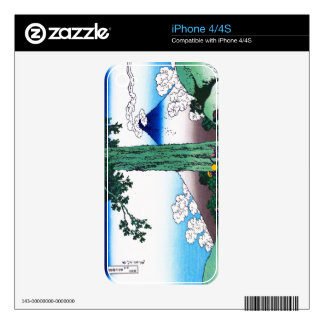 Cool oriental japanese Hokusai Fuji View landscape Decals For iPhone 4