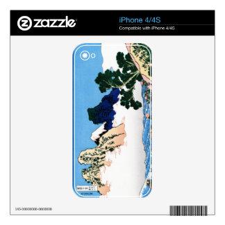 Cool oriental japanese Hokusai Fuji View landscape iPhone 4S Skin
