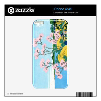 Cool oriental japanese Hokusai Fuji View landscape iPhone 4 Decals