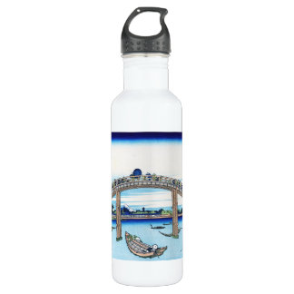 Cool oriental japanese Hokusai Fuji View landscape Stainless Steel Water Bottle
