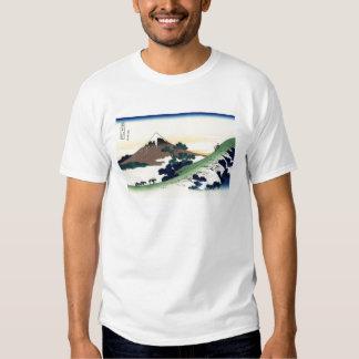 Cool oriental japanese Hokusai Fuji View landscape Tee Shirts