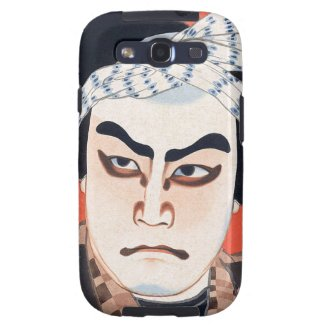Cool oriental japanese kabuki actor painting art galaxy s3 covers