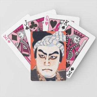 Cool oriental  japanese kabuki actor painting art deck of cards