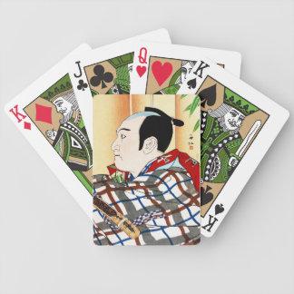 Cool oriental japanese Kabuki Actor Portrait art Bicycle Card Decks