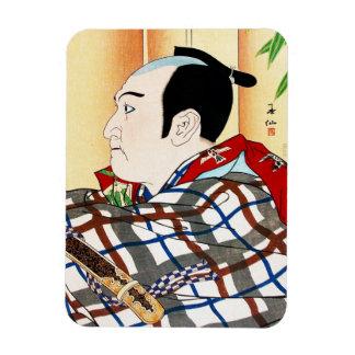 Cool oriental japanese Kabuki Actor Portrait art Rectangular Photo Magnet