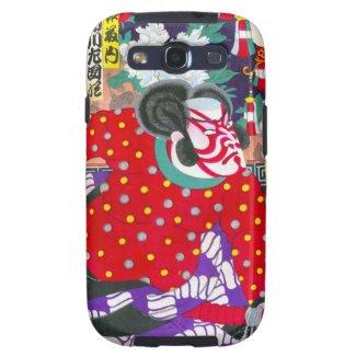 Cool oriental japanese kabuki samurai kunichika galaxy SIII cover