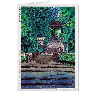 Cool oriental japanese Kasamatsu forest entrance Card