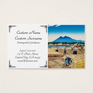 Cool oriental japanese Kasamatsu harvest time art Business Card