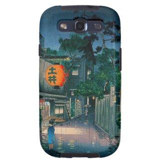 Cool oriental japanese Kasamatsu night street rain Galaxy SIII Cover