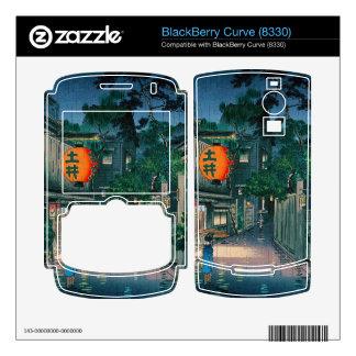 Cool oriental japanese kasamatsu night street rain skin for BlackBerry
