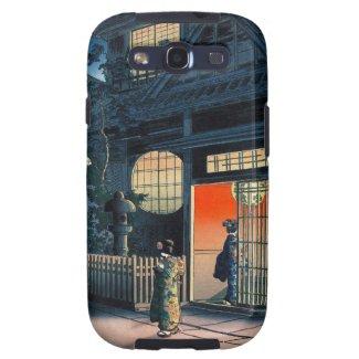 Cool oriental japanese kasamatsu night village art samsung galaxy s3 case