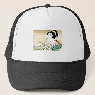 Cool Oriental Japanese Kasane Geisha art Trucker Hat