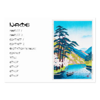 Cool oriental japanese Kawai Kenji mountain river Business Card Template