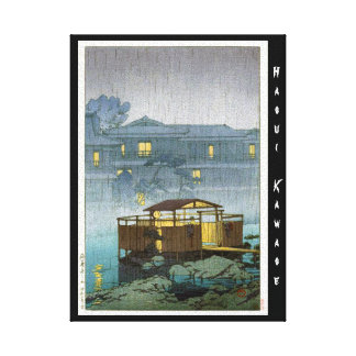 Cool oriental japanese Kawase rainy day art Canvas Print