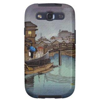 Cool oriental japanese Kawase rainy day art Galaxy S3 Cases