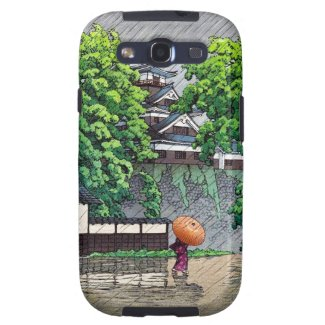 Cool oriental japanese Kawase rainy day street Samsung Galaxy S3 Case