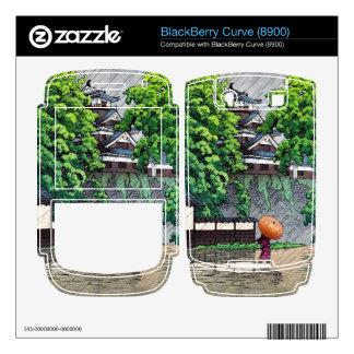 Cool oriental japanese  Kawase rainy day street BlackBerry Decal