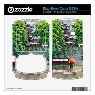 Cool oriental japanese  Kawase rainy day street BlackBerry Skins