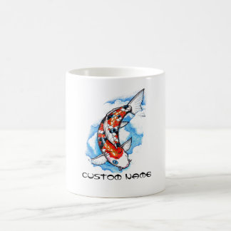 Cool Oriental Japanese Koi Carp Cloud tattoo Coffee Mug