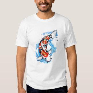 Cool Oriental Japanese Koi Carp Cloud tattoo T Shirt