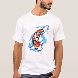 Cool Oriental Japanese Koi Carp Cloud tattoo T-Shirt