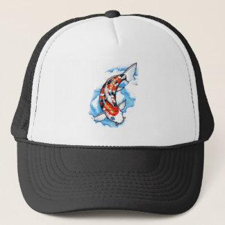 Cool Oriental Japanese Koi Carp Cloud tattoo Trucker Hat
