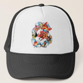 Cool Oriental Japanese Koi Carp Fish Flowers Trucker Hat
