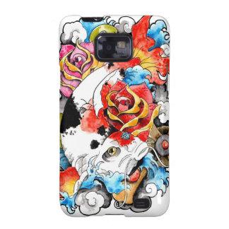 Cool Oriental Japanese Koi Carp Fish Rose Samsung Galaxy S2 Covers