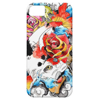 Cool Oriental Japanese Koi Carp Fish Rose iPhone SE/5/5s Case