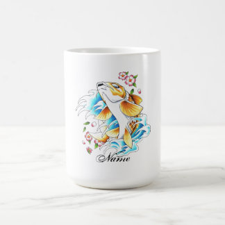 Cool Oriental Japanese Koi Carp Fish Water tattoo Coffee Mug