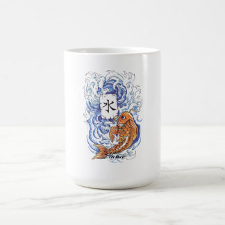 Cool Oriental Japanese Koi Carp Fish Wave tattoo Coffee Mug
