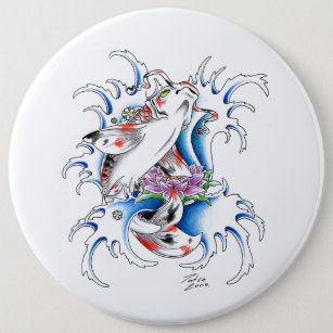 Japanese Tattoo Design Buttons Patches Zazzle
