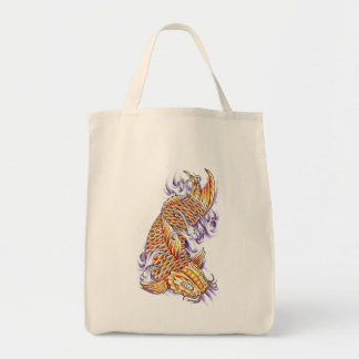 Cool Oriental Japanese Koi Fish Carp Gold tattoo Tote Bag