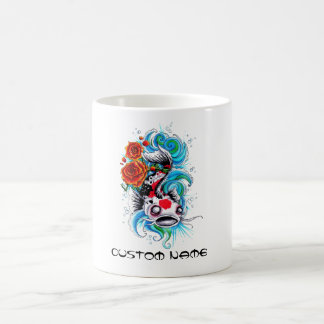 Cool Oriental Japanese Koi Fish Carp Rose tattoo Coffee Mug
